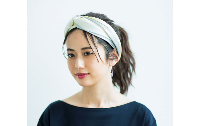 【3】ハイポニー×スカーフ