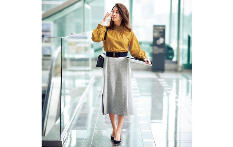 【5】黄色ブラウス×グレースカート