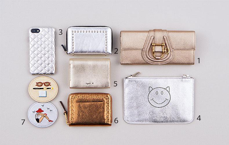 【3】開運カラー!?シルバー&ゴールドの財布
