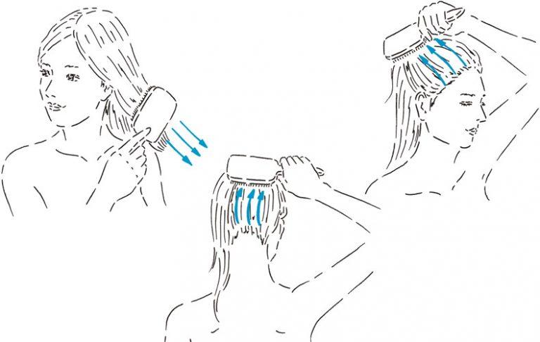 ◆シャンプー前には、頭皮や髪のためにブラッシングを!