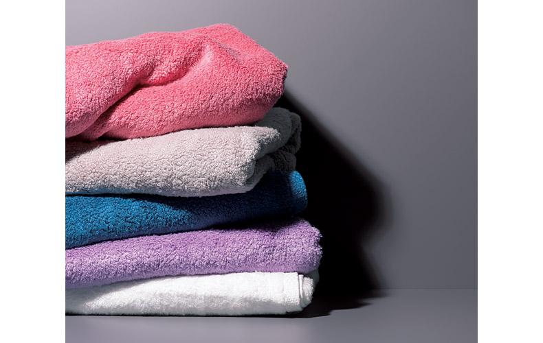 使用するタオルは吸収性に優れたものを
