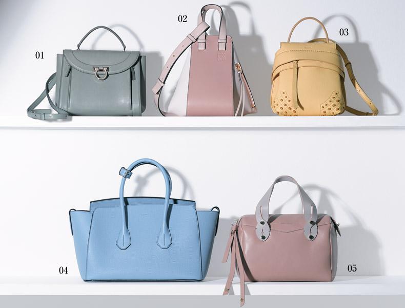 【1】グレイッシュパステルカラーの人気色バッグ