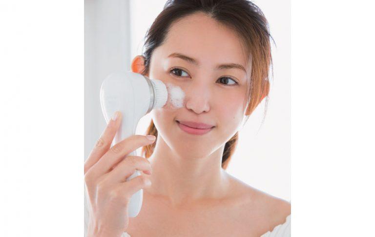 洗顔ブラシで、ピカピカな肌に!