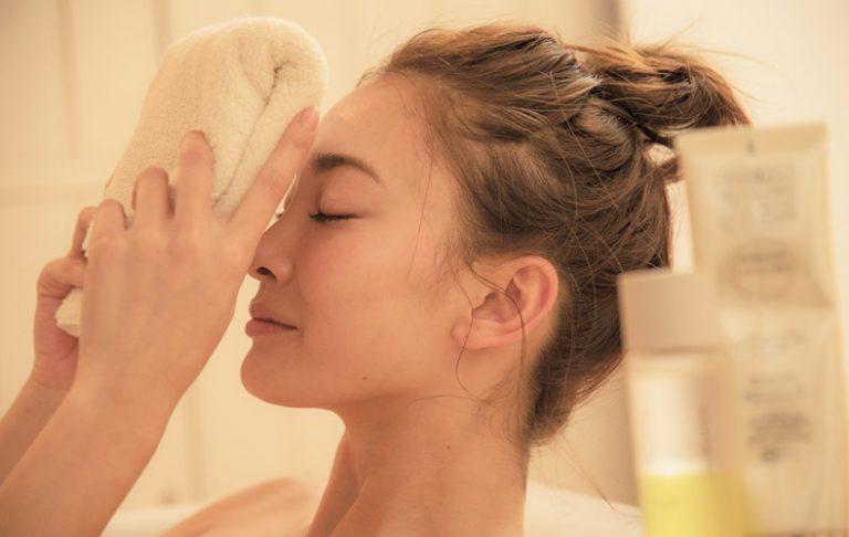 入浴中にできるタオルクレンジング