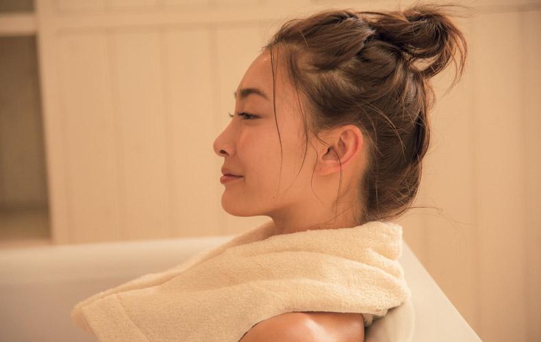 2.お風呂で温める