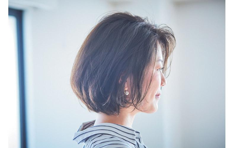 【1】前髪なしショートヘア