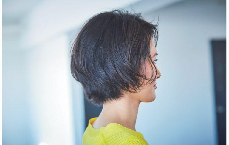 ◆黒髪×前髪なしで上品ストレートボブ