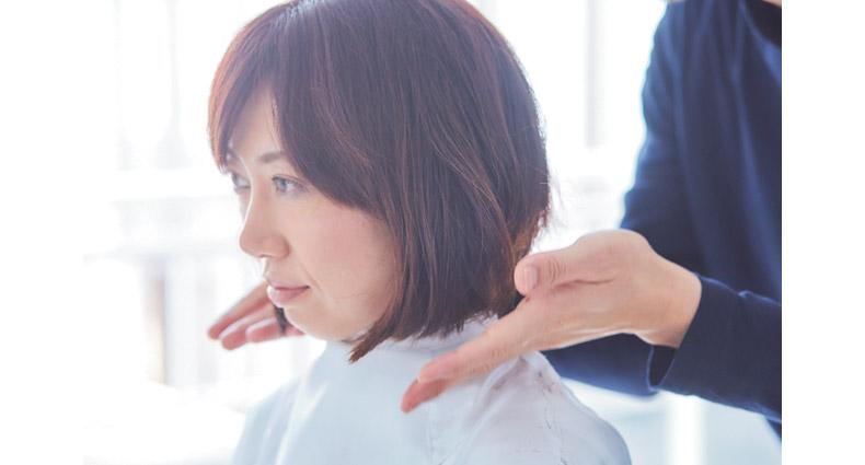 流しやすい前髪のボブヘア