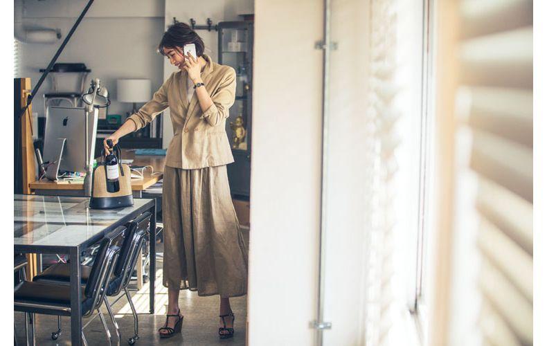 【5】ベージュジャケット×ベージュスカート