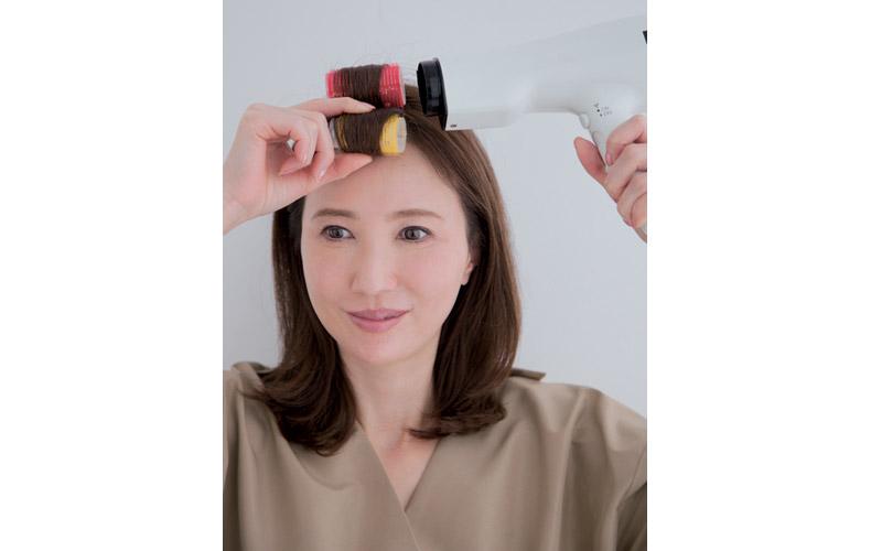 カラーを使ってふんわり前髪を作る方法