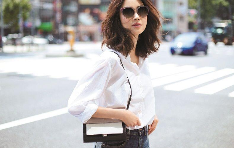 【5】青デニム×白シャツ