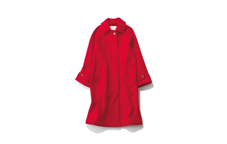 【2】赤ステンカラーコート