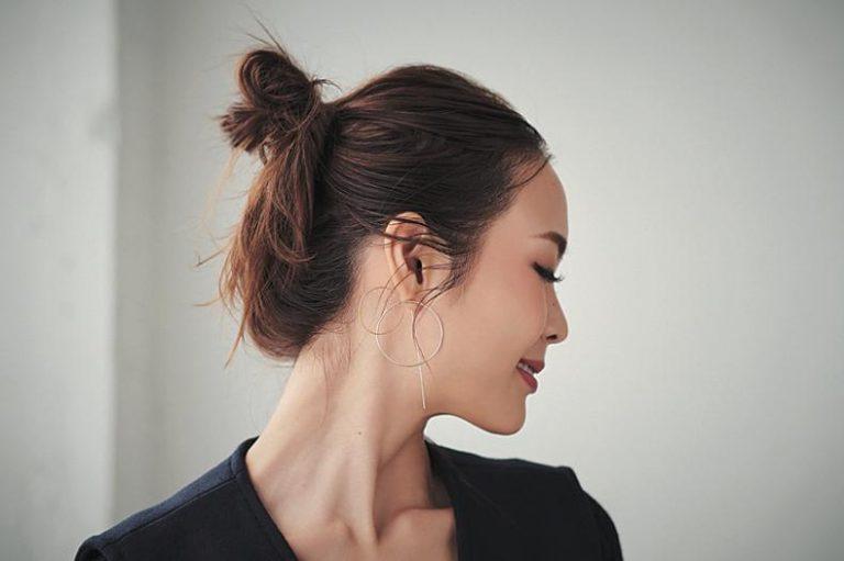 小顔見えも♡簡単かわいいまとめ髪