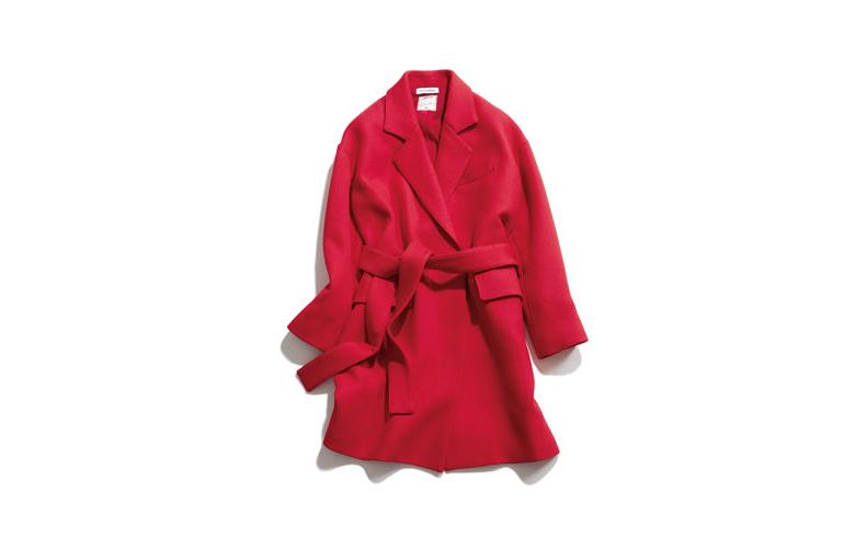【2】マディソンブルーの赤チェスターコート