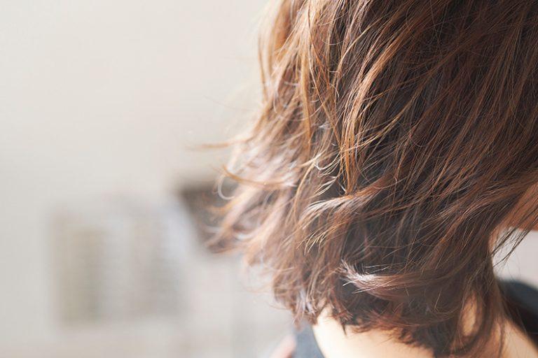 ミディアム×前髪なしの黒髪ストレート