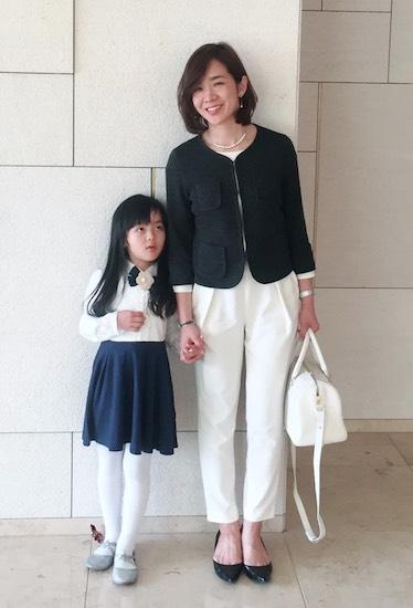 先輩ママ:福吉彩子さん(2児のママ/男の子・女の子)のOKコーデ
