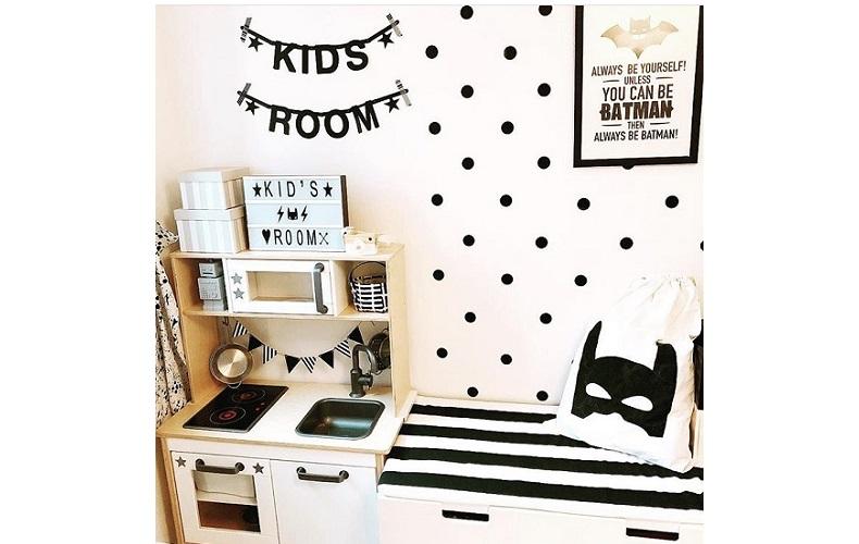 キャンドゥの「ウォールステッカー」で子ども部屋を飾り付け