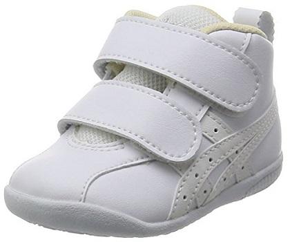 ファーストシューズ おすすめ 赤ちゃん 子ども 女の子 男の子 人気 靴 asics アシックス スクスク ファブレ ホワイト×ホワイト 12.0cm ホワイト
