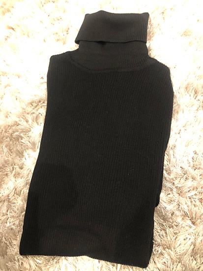 無印良品,リブ編みタートルネックセーター