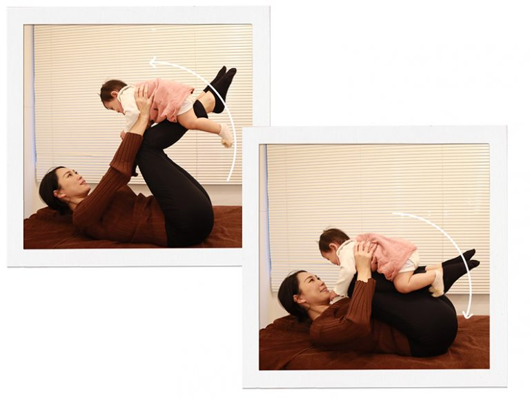 子どもとスキンシップをしながらできるトレーニング