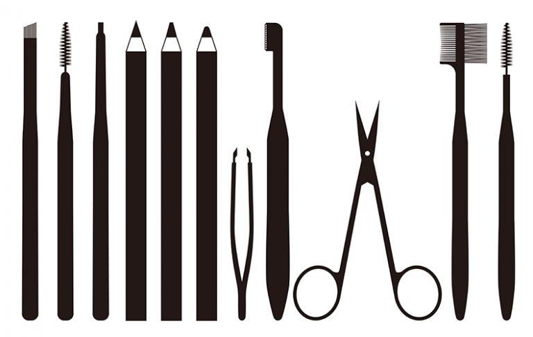 ■眉毛カットの準備とやり方