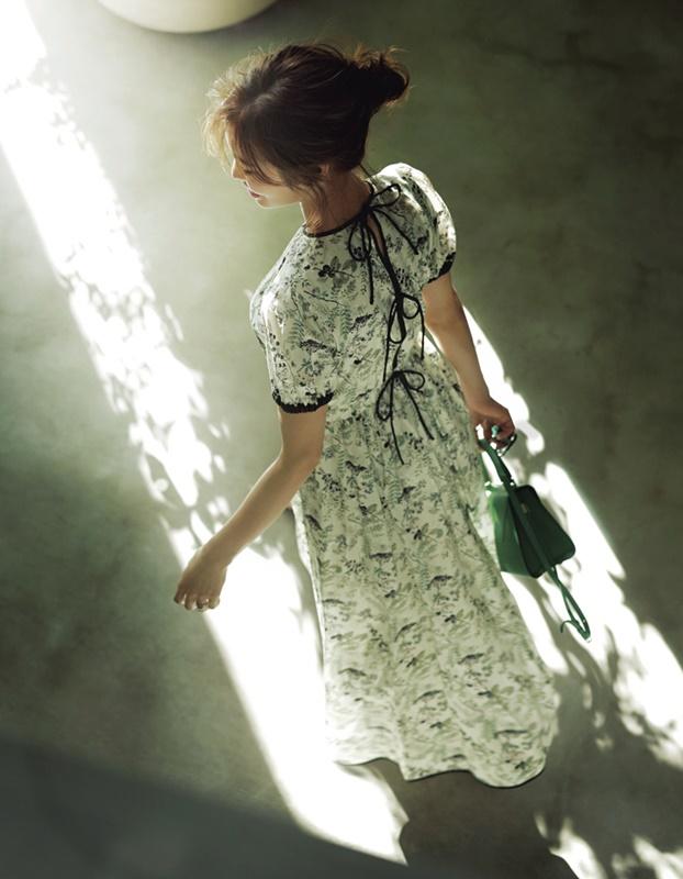 【5】花柄ワンピース