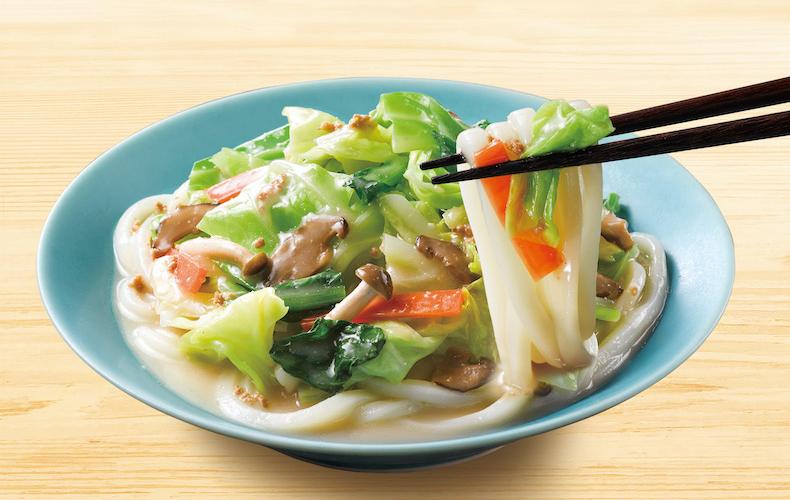 野菜たっぷりちゃんぽんうどんがレンチンでできる!