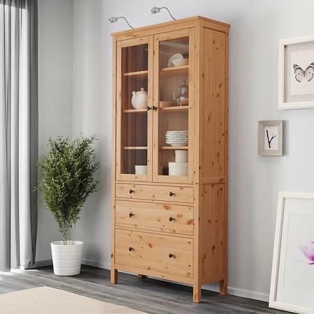 IKEA イケア 収納力 収納 大容量 食器棚 棚 キッチン HEMNES ヘムネス