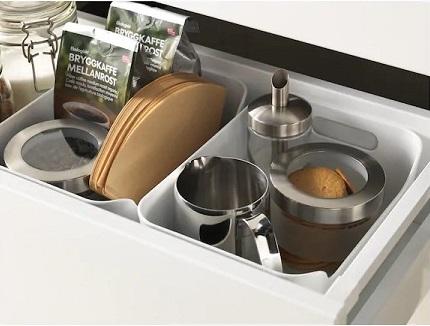 IKEA イケア 食器棚 棚 キッチン 収納 方法 ボックス 箱 入れ物 ケース VARIERA ヴァリエラ