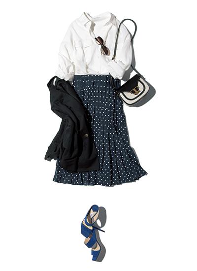 PLST コンサバティブ コンサバ 意味 ファッション 着こなし コーデ コーディネート 働く女性 シャツ スカート ジャケット
