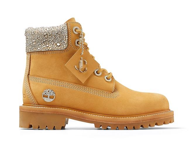 JIMMY CHOO TIMBERLAND コレクション コラボレーション 6インチ ブーツ 新作 6 インチ プレミアム ウィート ブーツ ウィズ スワロフスキー クリスタル カラー メンズ ウィメンズ
