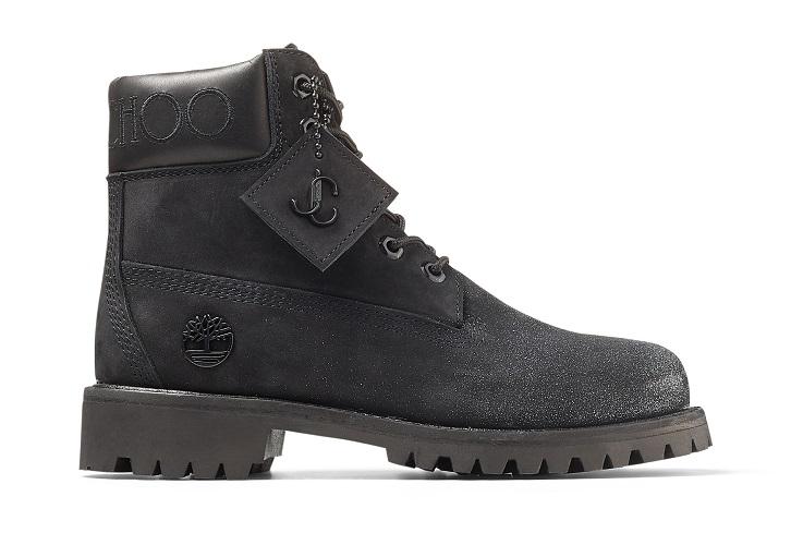 JIMMY CHOO TIMBERLAND コレクション コラボレーション 6インチ ブーツ 新作 6インチ プレミアム ブラック ブーツ ウィズ グリッター  メンズ ウィメンズ