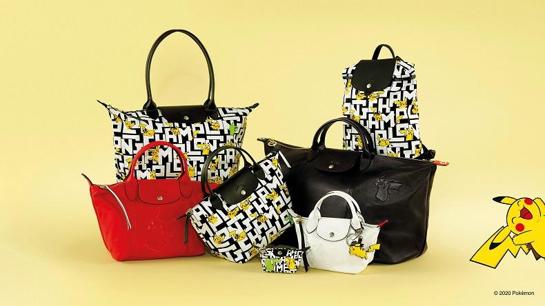 ロンシャン×ポケモン Longchamp ポケットモンスター コラボレーション コレクション2020 日本先行発売 10月9日 バッグ 小物 ピカチュウ