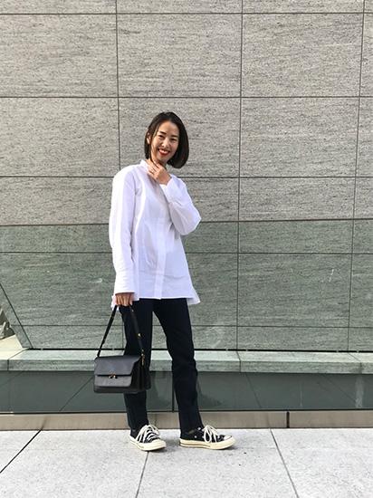 スーピマコットンスタンドカラーシャツ ユニクロ +J