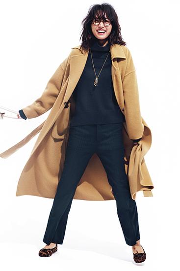 ウィム ガゼット トレンチ型ロングコート