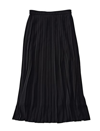 ユニクロ 黒プリーツスカート