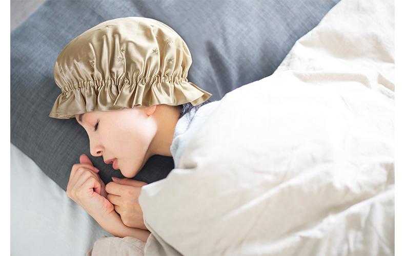 シルクの力を借りて寝ている間も美容時間に!