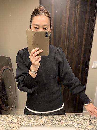GU パフスリーブ セーター