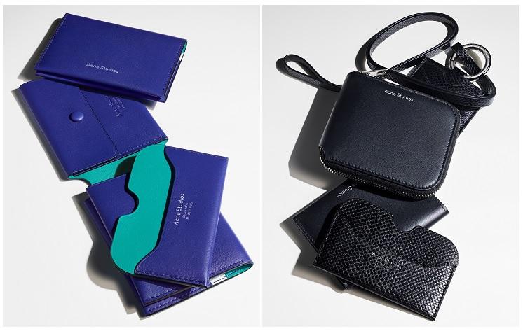アクネストゥディオズAcneStudiosスモールレザーグッズ新作財布ウォレットカードホルダーカードケース二つ折り財布ミニバッグ