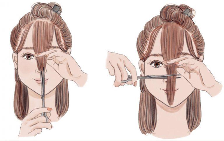 髪を切る頻度自分で髪を切るセルフカットコツポイント方法必要な道具アイテムハサミヘアクリップコーム三面鏡