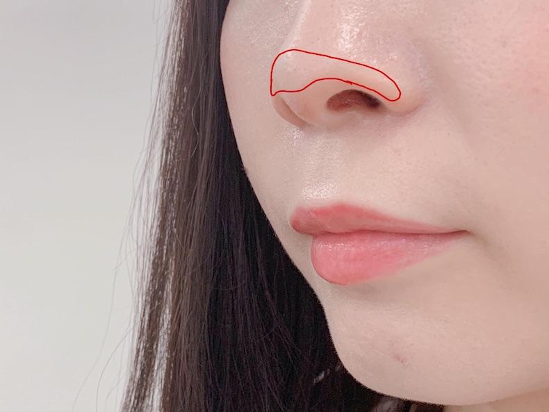 高い鼻に見えるポイントは「鼻筋」