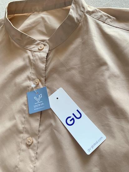 GUバンドカラーシャツワンピース