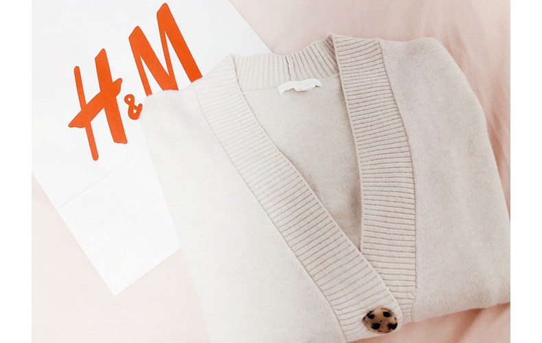 H&M,オーバーサイズカーディガン