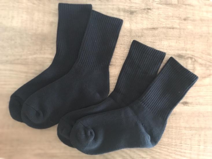 無印良品の厚手パイル靴下