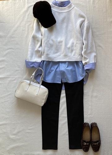 ユニクロUNIQLOスーピマコットンオーバーサイズシャツメンズ着こなし方方法術コーディネートレディース