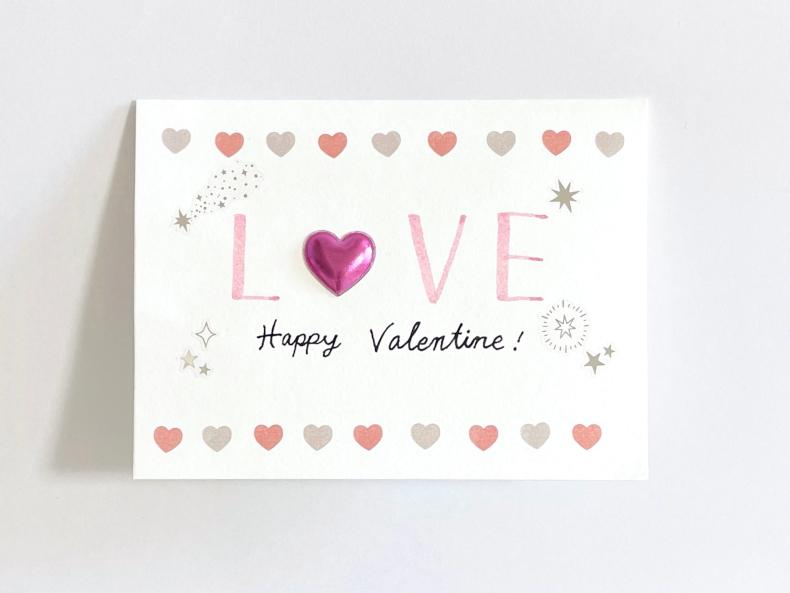 バレンタインカード シール大臣