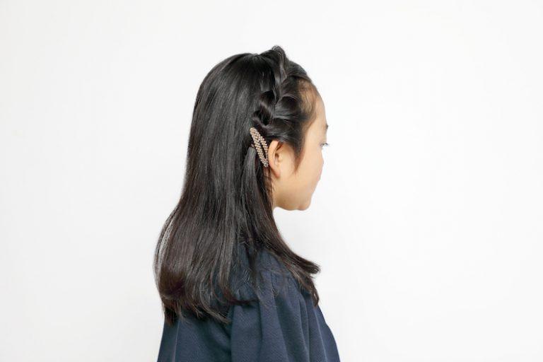 ちょっとしたおめかしに、前髪編み込み