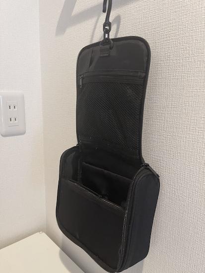 無印良品 ポリエステル吊して使える洗面用具ケース 黒