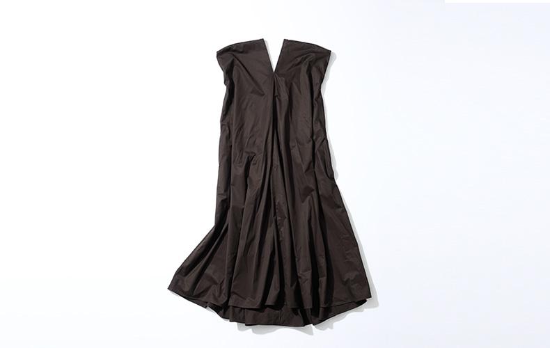 エイトンATONワンピースドレス新色新作ブラウン