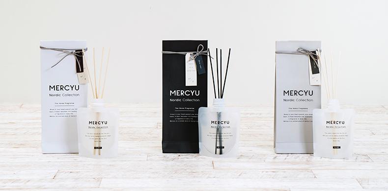 mercyu Nordic Collection リードディフューザー メルシーユー ホームフレグランス パウチボトル